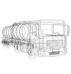 Truck with tank concept vector