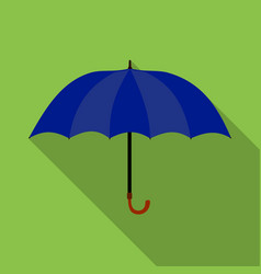 Umbrella icon in flat style isolated on white vector