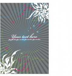 vector ornament in flower style vector image