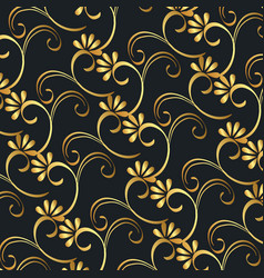 Victorian and floral golden background vector