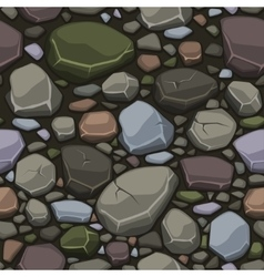 view from above cartoon colors stone texture vector image