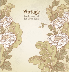 Vintage color background with wild meadow flowers vector image