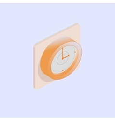 Wall Clock isometric vector image