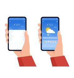 weather forecast widget vector image