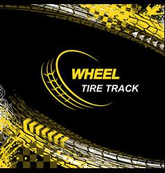 Wheel tire track black background vector
