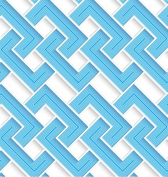 White 3D with colors blue striped brackets vector