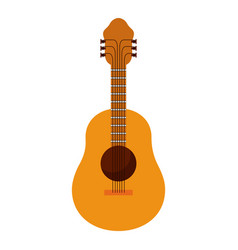 White background with acoustic guitar vector
