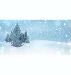 winter background with flying sparkling snowflakes vector image