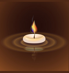 With candle vector