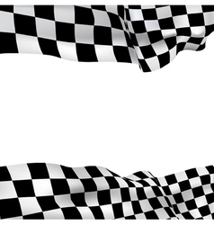 Background checkered flag vector