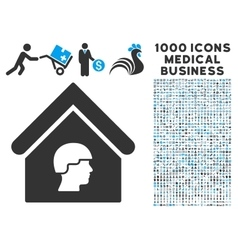 Barrack Building Icon with 1000 Medical Business vector image vector image