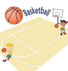 basketballtemplete 02 vector image