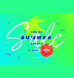 end of summer season sale banner tropic vector image vector image