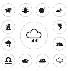 set of 12 editable air icons includes symbols vector image vector image