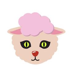 sheep animal carnival mask cute wooly lamb vector image