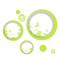 Spring or summer vitality abstract frames vector image vector image