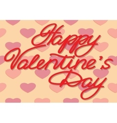 Valentines Day Inscription from paper letters vector image vector image
