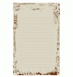 notepad background vector image vector image