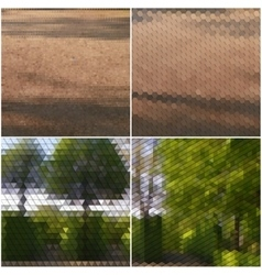 Park landscape Collection of abstract vector image vector image