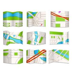 Topo maps vector image vector image