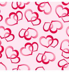 two pink hearts vector image vector image
