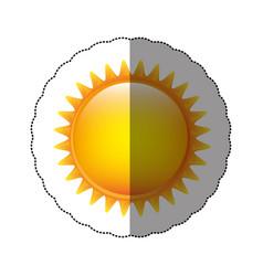 color sticker sun icon vector image