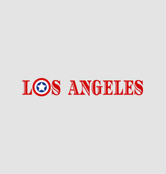 los angeles city name vector image
