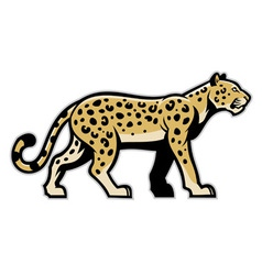 majestic leopard mascot vector image
