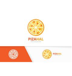 pizza logo combination food symbol or icon vector image