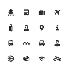 Abstract city transport icon collection vector image