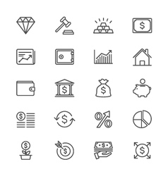 Business and investment thin icons vector image vector image