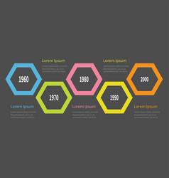 five step timeline infographic colorful big vector image