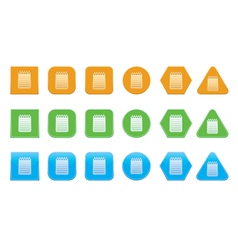 set of notepad icons vector image vector image