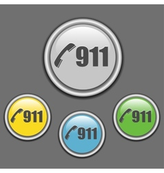 911 call buttons on grey background vector image
