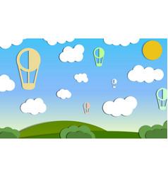 air ballons in sky vector image