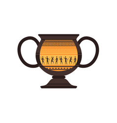 ancient ceramic amphora with traditional roman vector image