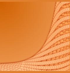 Array of orange paper cut circles vector