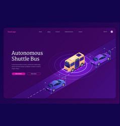 Banner autonomous shuttle bus vector