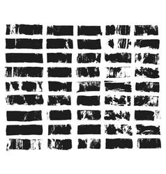 big set of rectangular text box grunge paint vector image