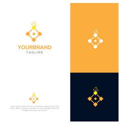 block chain logo design vector image