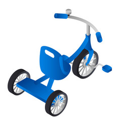 blue boy tricycle icon isometric style vector image