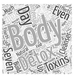 Body cleanser detox internal Word Cloud Concept vector