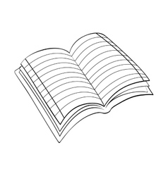 Book scribble draw vector