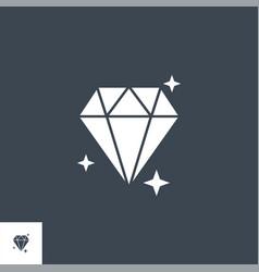 brilliant related glyph icon vector image