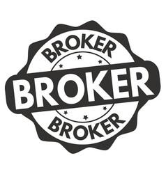 broker sign or stamp vector image