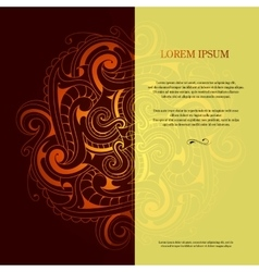 Card design with orient ornament vector