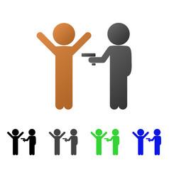 children crime flat gradient icon vector image