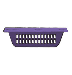 colored blurred silhouette of small laundry basket vector image