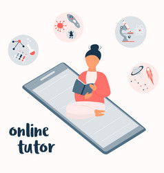 concept for e-learning vector image