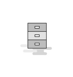 cupboard web icon flat line filled gray icon vector image